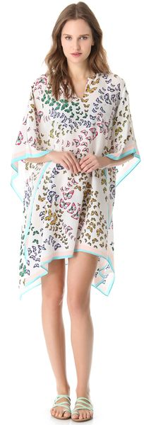 White Butterflies Cover Up - Lyst