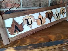 Dollar Tree Fall, Dollar Tree Decor, Dollar Tree Crafts, Fall Wood Signs, Fall Signs, Fall Halloween, Halloween Crafts, Fall Wood Crafts, Diy Crafts