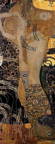 Gustav Klimt, Water Serpents I (Wasserschlangen I)  on ArtStack #gustav-klimt #art