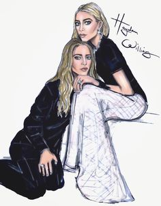 Hayden Williams Fashion Illustrations: CFDA 2015 Designers of the Year - Mary-Kate & Ashley