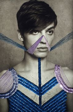 GLTZ, fashion communication inspired by Maurizio Anzeri — Designspiration