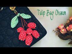 DIY Tulip Bag Charm / Gantungan Kunci Tulip Kain Perca| Recycling Project by Elysia Handmade - YouTube