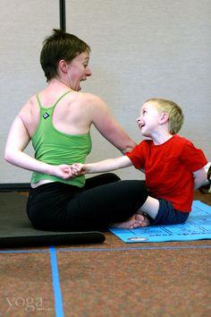 5 easy partner yoga poses for kids printable poster