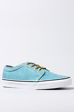 Vans Footwear The 106 Vulcanized Sneaker in Tile Blue True White    Karmaloop.com - 3da6888ce