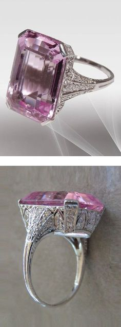 An Art Deco platinum An Art Deco platinum, morganite and diamond. I like the color of the stone. Not the art deco tho. Art Deco Ring, Art Deco Jewelry, Fine Jewelry, Jewelry Design, Art Deco Schmuck, Schmuck Design, Antique Jewelry, Vintage Jewelry, Bijoux Art Nouveau