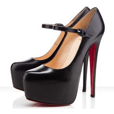 Christian Louboutin Mary Jane Pumps in Black ... Omg I love love love theses Mary Janes