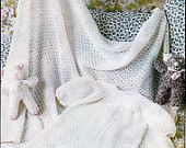 PDF Knitting Pattern Baby's Christening Dress and Shawl (0-8 months) Instant Download