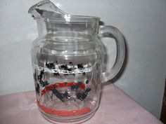 Vintage Federal Glass Scotch Ball Pitcher by ThreeEclecticChicks
