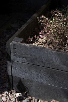 I'll be painting my raised garden beds this year :) Outdoor Life, Outdoor Gardens, Outdoor Living, Edible Garden, Vegetable Garden, Patio Pergola, Balcony Flowers, Unique Gardens, Sandbox