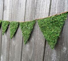 rustic moss bunting.