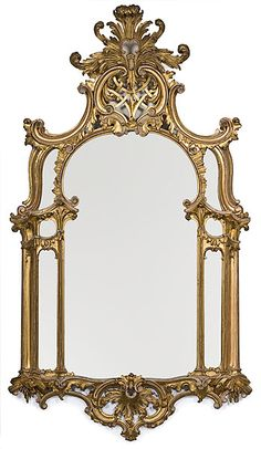 GEORGIAN-STYLE CARVED GILTWOOD MIRROR