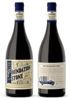 Rickety Bridge - Foundation Stone by Fanakalo , via Behance #taninotanino #vinosmaximum