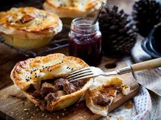 Venison Pies Recipe - Cooked long and slow until it is tender, this lean meat is full of flavour