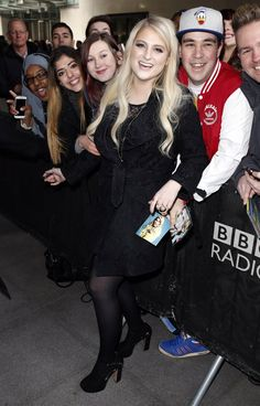 Pin for Later: Can't-Miss Celebrity Pics!  Meghan Trainor spent time with fans in London on Tuesday.