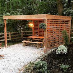 Rustic Pergola, Pergola Swing, Deck With Pergola, Wooden Pergola, Covered Pergola, Backyard Pergola, Pergola Shade, Backyard Landscaping, Pergola Ideas