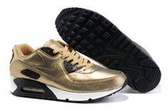 Homme Nike Air Max 90 or Blanc