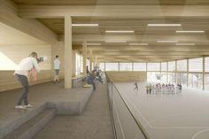Wettbewerb Sporthalle in Lützelsachsen | Raumlabor3 - Architekturvisualisierung aus Karlsruhe
