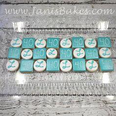 Birthday Mini cookies www.janisbakes.com