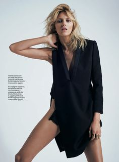 Model Anja Rubik by photographer Eric Guillemain, for S Moda. #Fashion #Photography