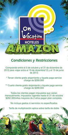 On Vacation ahora en AMAZONAS
