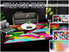 Triangle Rugs by Waterwoman - Sims 3 Downloads CC Caboodle