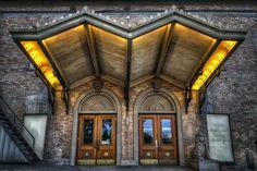 Rear entrance to the Masonic Temple in Spokane, Wa