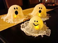 Preschool Crafts for Kids*: Halloween Cheese Cloth Ghosts Craft