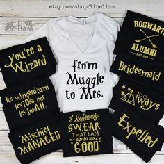 BRIDE BLOWOUT muggle to mrs shirt, wizard shirt, bachelorette shirts, bridesmaid…