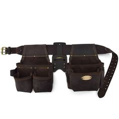Style n Craft 90429 - 4 Pc.-17 Pkt Pro Framer's Combo in Oiled Top Grain Leather #StylenCraft #ToolBeltFramersToolBelt