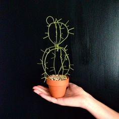 Wire handmade cactus