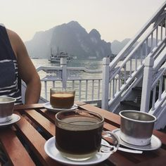 Wish I was having my coffee on Halong Bay this morning but at least it's Friday! #fbf #halongbay #coffeecoffeecoffee