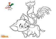 Imprimez 5 nouveaux coloriages inédits à l'effigie de Vaiana ! #Moana #Disney