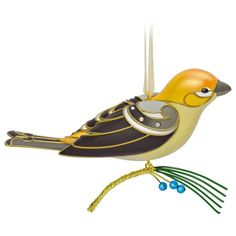 "On Sale Now: 2016 Hallmark Limited Edition ""Lady Pine Grosbeak"" Ornament - From Bucky's Toys and Collectibles. #Hallmark"