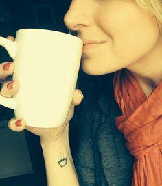Love my coffee tattoo :) #coffeetattoo Seattle Tattoo Emporium