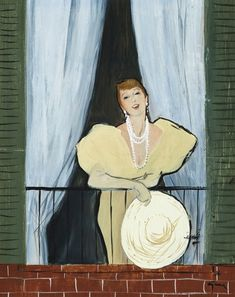 The Balcony, René Gruau (February 4, 1909 - March 31, 2004).