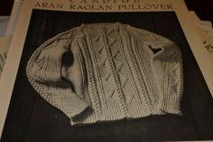 Candide aran raglan sweater Aran Sweaters, Aran Knitting Patterns, Beanie, Pullover, Ebay, Vintage, Fashion, Moda, Fashion Styles