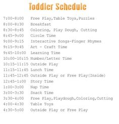 sample toddler schedual#Repin By:Pinterest++ for iPad#