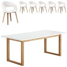 Essgruppe Hanstholm/Holstebro (90x190, 6 Stühle, weiß) Jetzt bestellen unter: https://moebel.ladendirekt.de/kueche-und-esszimmer/stuehle-und-hocker/esszimmerstuehle/?uid=17a09241-5796-5fbf-a423-76deb9abdb90&utm_source=pinterest&utm_medium=pin&utm_campaign=boards #essgruppen #kueche #esszimmerstuehle #esszimmer #hocker #stuehle Bild Quelle: www.daenischesbettenlager.de