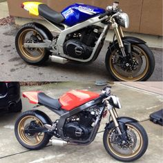gs500 streetfighter - Google Search Gs 500 Cafe Racer, Cafe Racer Build, Street Fighter Motorcycle, Gs500, Sv 650, Cafe Racing, Cafe Bike, Bobber Chopper, Super Bikes