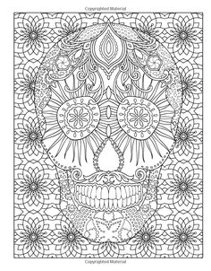 Marty Nobles Sugar Skulls New York Times Bestselling Artists Adult Coloring Books
