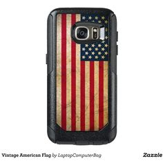 Vintage American Flag OtterBox Samsung Galaxy S7 Case ($52) ❤ liked on Polyvore featuring accessories, tech accessories and patriotic