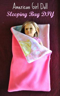 American Girl Doll Sleeping Bag DIY - Make Life Lovely