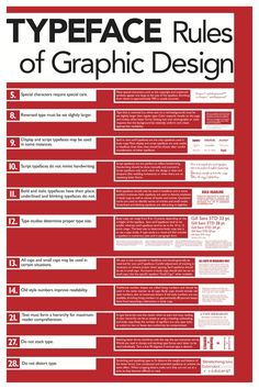 Rules of Graphic Design poster series by Jeremy Moran via @Behance (Click on the image to see the Spacing and Grammar Rules posters.)
