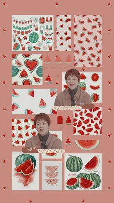 Exo Chen, Baekhyun Chanyeol, K Wallpaper, Kawaii Wallpaper, Korean Letters, Exo Lockscreen, Minecraft Art, Kim Min Seok, Kpop Aesthetic