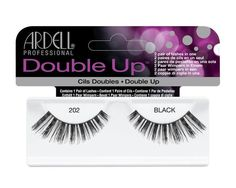 Double Up Black Eyelashes by Ardell ProfessionalContains 1 Pair of LashesDouble Up Lashes have twice the amount of lashes for a more dramatic look. A double layer style gives you a fuller, thicker look. Each lash Ardell Lashes Double Up, Thick Lashes, Fake Lashes, Natural Lashes, False Eyelashes, Artificial Eyelashes, Natural Hair, Lash Glue, Layer Style