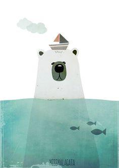 houtjevanpapier | polar bear print | missmalagata