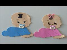 Bebês para chá da revelação com molde ( 34x40,8) - YouTube