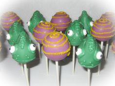 Disney Tangled Themed Cake Pops.