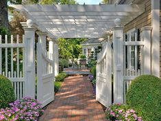 White Double Gate Design Ideas, Pictures, Remodel and Decor