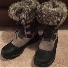 TIMBERLANDS GREAT BOOTS! Waterproof and insulated. Good condition. Zippers & Laces for easy on and off. Timberland Shoes Winter & Rain Boots